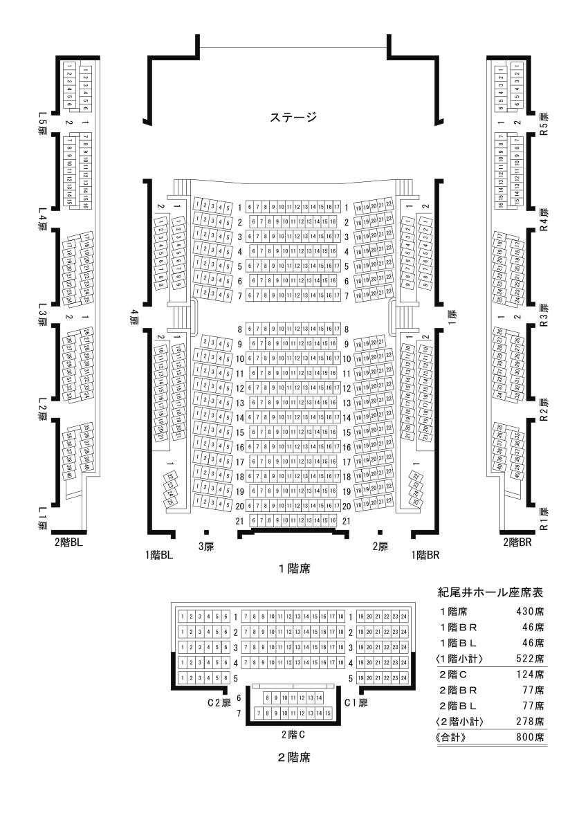 紀尾井ホール座席表